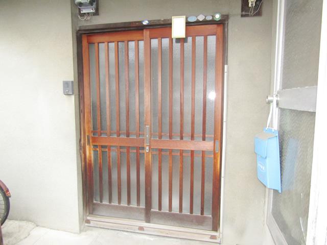 名古屋市南区M様邸【LIXIL】玄関引戸ドア 取替工事 施工前
