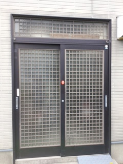 蒲郡市 S様邸【LIXIL リシェント54型 井桁格子】 玄関引戸ドア 取替工事 施工後