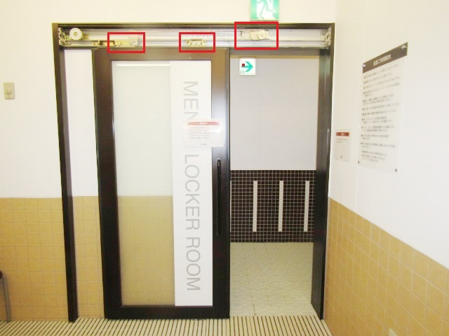 名古屋市瑞穂区 半自動ドア修理 DIA スライドクローザー部品取替 施工前
